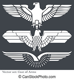 Eagle coat of arms heraldic for poster