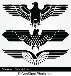 Eagle coat of arms heraldic vector