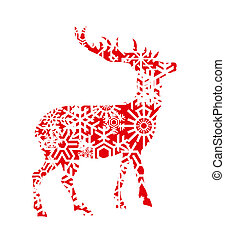 Deer Christmas vector background for poster