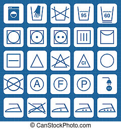 Vector washing security signs icons