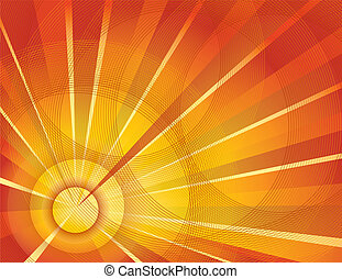 Sun vector burst background