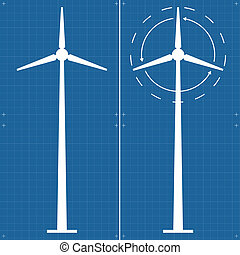 Alternative energy wind generator vector background