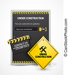 Vector under construction background - Vector illustration...