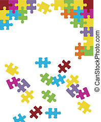 Colorful puzzle background vector