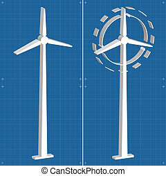 Wind generators and wind turbine vector