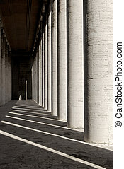 Marble colonnade - Building of the 20's, rationalist...