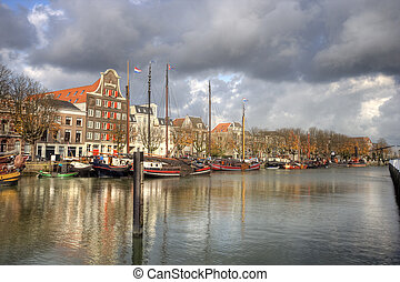 Old Dutch Harbor - Old harbor of Dordrecht, Holland