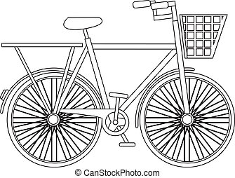 silhouette bicycle isolated over white background. vector