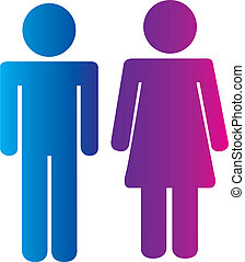men and women signs - men and woman signs isolated over...