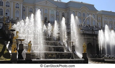 Peterhof - Cascade of Fountain - St Petersburg, Russia