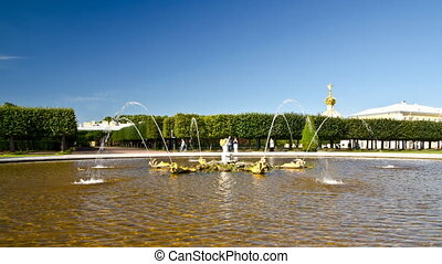 Peterhof - fountain - St. Petersburg, Russia