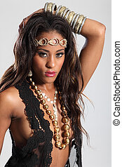 Beautiful young african american glamour model - Beautiful...
