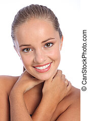 Dazzling smile by beautiful happy young woman