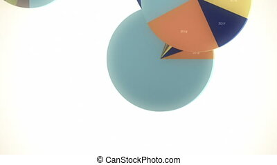 Falling, Bouncing Pie Charts - Seamlessly looping animation...