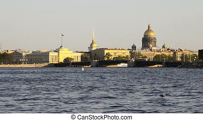 Tour hydrofoil ship on the Neva in St Petersburg, Russia