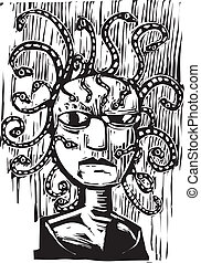 Medusa - an image of the snake head medusa