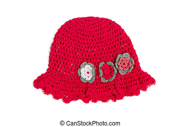 beautifull red hat - nice red hat for little girl with...