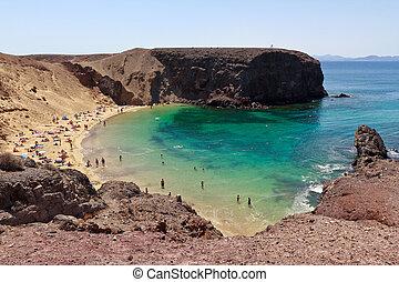 lanzarote, playa de papagayo - playa de papagayo