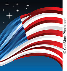 USA flag illustration background