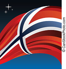 Norway flag vector illustration