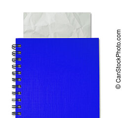 paper in notebook