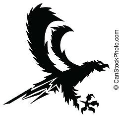 strong eagle vector - black strong eagle vector