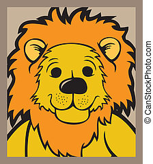 Lion head vector - Lion head isolated vector