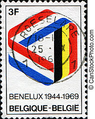 Benelux - BELGIUM - CIRCA 1969: Postage stamp published in...