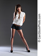 Tall slim beautiful mixed race fashion model girl - Tall...