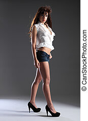 Tall long legged beautiful mixed race model girl - Tall slim...