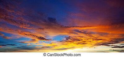 sunset background - beautiful sunset background in Thailand