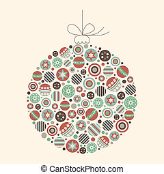 Abstract Christmas Bauble Vector