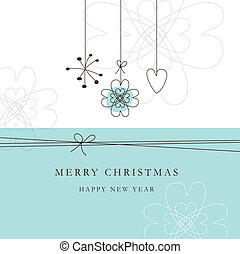 New, year's, card