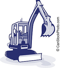 digger - a blue digger machinery