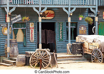 western style building - Old western style building and bar