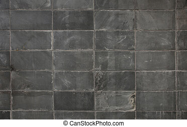 Dark gray block wall background
