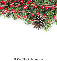 Christmas and New Year Border - The christmas and New Year...