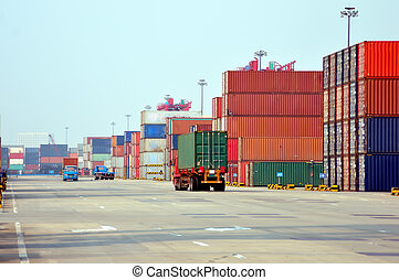 Container Terminal, taken in Qingdao, China