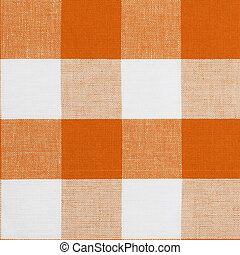Real seamless pattern of gingham traditional tablecloth...