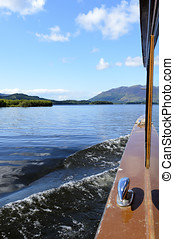Keswick Launch - View across Derwent Water from Keswick...