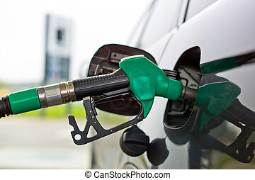 tap for a petrol filling station