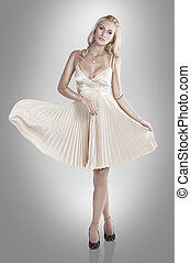 porcelain doll - beautiful young woman looking like a...