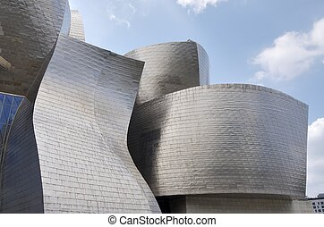 Guggenheim - Bilbao, Spain - July 30, 2011: foreground view...