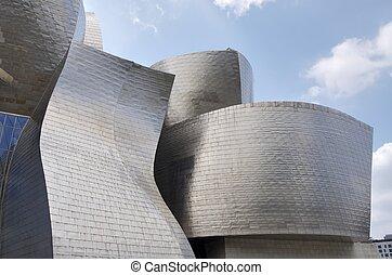 Guggenheim - Bilbao, Spain - July 30, 2011: foreground view...