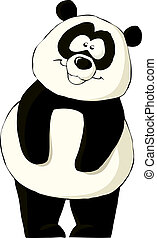 Panda on a white background, vector illustration