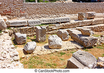 Archaeological site - Archaeological artefacts from Roman...