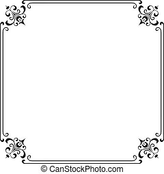 Frame - Decorative frame on white background