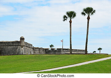Castillo de San Marcos - Castle of San Marcos at Historic St...