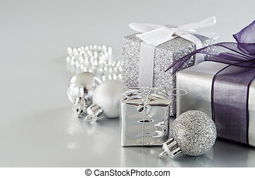 Silver Christmas Gifts - A collection of silver Christmas...