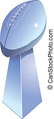 Football Trophy - Chromed football trophy, isolated with...